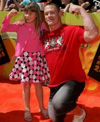 Bindi Irwin and John Cena at the Nickelodeon Australian Kids Choice Awards 2008.