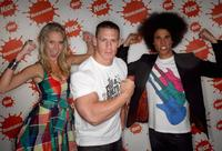 Maude Garrett, John Cena and Kyle Linahan at the Nickelodeon Australian Kids Choice Awards 2008.