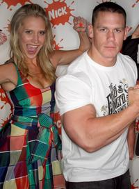 Maude Garrett and John Cena at the Nickelodeon Australian Kids Choice Awards 2008.