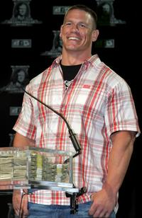 John Cena at the announcement of the First McMahon Million Dollar Mania Winners.