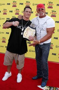 John Cena and Hulk Hogan at the 2005 Teen Choice Awards.