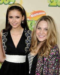 Nina Dobrev and Lauren Collins at the Nickelodeon's 2009 Kids Choice Awards.