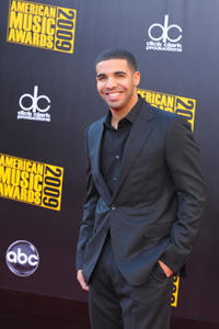 Aubrey Graham at the 2009 American Music Awards in California.