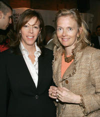 Tribeca Film Festival Co-founder Jane Rosenthal and Jenny Maguire at the jurors opening luncheon during the 2005 Tribeca Film Festival.