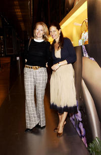 Jenny Maguire and Prada Senior VP of Communications Katherine Ross at the Elliott Carter Documentary Concert during the 2004 Tribeca Film Festival.