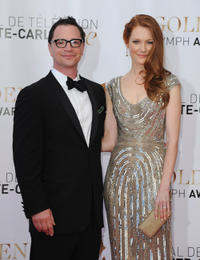 Joshua Malina and Darby Stanchfield at the closing ceremony of the 53rd Monte Carlo TV Festival.