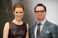 Darby Stanchfield and Joshua Malina at the photocall during the 53rd Monte Carlo TV Festival.