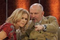 John Malkovich and Veronica Ferres at the live broadcast of