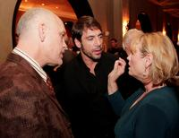 John Malkovich, Javier Bardem and Tess Harper at the premiere of Miramax Films