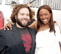 Dan Fogler and Aisha Tyler at the premiere of