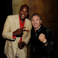 Bo Brown and Ray Mancini at the after party of California premiere of