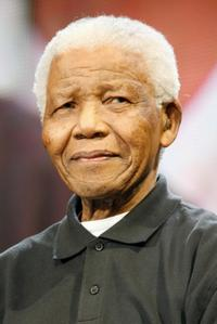 Nelson Mandela at the 46664 Concert In Celebration Of Nelson Mandela's Life.
