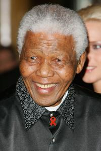 Nelson Mandela at the Unite For A Better World Gala Dinner.