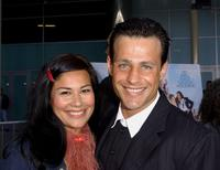 Louis Mandylor and his girlfriend at the premiere of