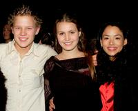 Chris Egan, Christie Hayes and Stephanie Chaves Jacobsen at the Sydney premiere of
