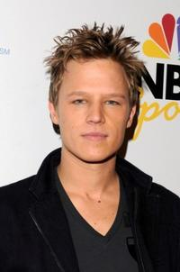 Chris Egan at the NBC Universal Pre Super Bowl event.