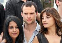 Leila Bekhti, Axel Kiener and Julie Bataille at the photocall of