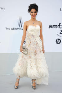 Malika Sherawat at the 2011 amfAR's Cinema Against AIDS Gala during the 64th Annual Cannes Film Festival.