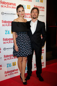Elena Anaya and Jan Cornet at the Fotogramas Awards 2012 in Madrid.