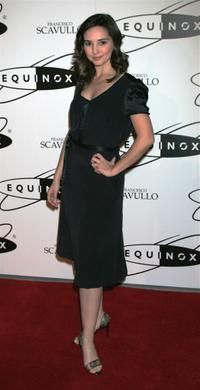 Laura Breckenridge at the grand opening of Equinox Fitness Club.