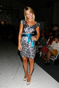 Anastasia Griffith at the Cynthia Steffe Spring 2009 Fashion show during the Mercedes-Benz Fashion Week.