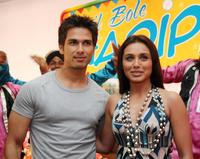 Shahid Kapoor and Rani Mukherjee at the promotional event for