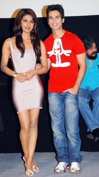 Priyanka Chopra and Shahid Kapoor at the launch of