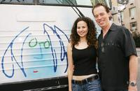 Mandy Gonzalez and Terrence Mann at the John Lennon Educational Tour.