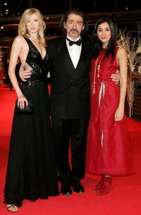 Siobhan Hewlett, Miki Manojlovic and Dorka Gryllus at the premiere of