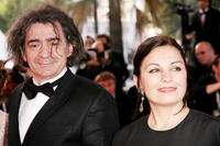 Miki Manojlovic and Ljiljana Blagojevic at the premiere of