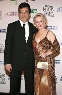 Joe Mantegna and Tippi Hedren at the 20th Anniversary Genesis Awards.