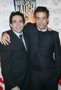 Mario Cantone and Joe Mantello at the after party of the opening night of