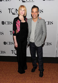 Ellen Barkin and Joe Mantello at the 5th Annual Tony Awards in New York.