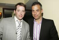 Matthew Broderick and Joe Mantello at the opening of
