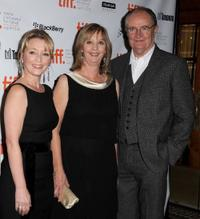 Lesley Manville, Ruth Sheen and Jim Broadbent at the premiere of