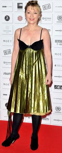 Lesley Manville at the Moet British Independent Film Awards.