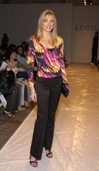 Marla Maples at the Iron Fall 2005 show during the Mercedes-Benz Fashion Week.