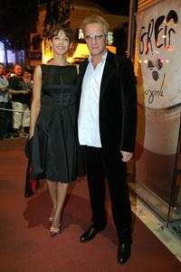 Sophie Marceau and Christophe Lambert at the presentation of her new film (Trivial)