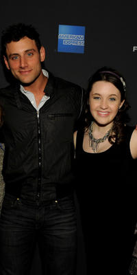 Director J.B. Ghuman and Savannah Stehlin at the 2010 Tribeca Film Festival program launch of Tribeca Film New Distribution in California.