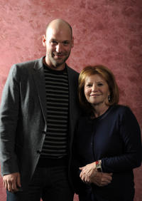 Corey Stoll and producer Letty Aronson at the California premiere of