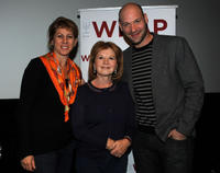 Sharon Waxman, producer Letty Aronson and Corey Stoll at the California premiere of