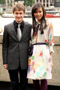 Daniel Radcliffe and Katie Leung at the photocall of