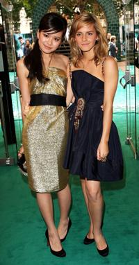 Katie Leung and Emma Watson at the European premiere of