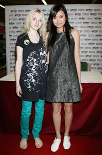 Evanna Lynch and Katie Leung at the photocall in Tescos Extra Watford.