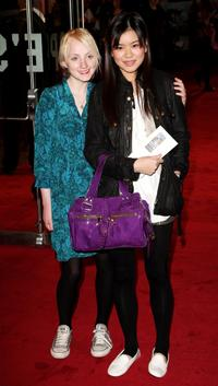 Evanna Lynch and Katie Leung at the world premiere of