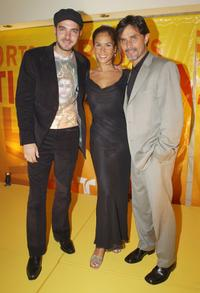 Manolo Cardona, Lorena Rojas and Humberto Rojas at the Telemundo Network's upfront preview party.