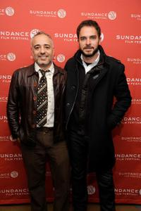 Writer/director Javier Fuentes-Leon and Manolo Cardona at the 2010 Sundance Film Festival.