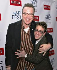 Eric Gores and Tom Arnold at the world premiere of