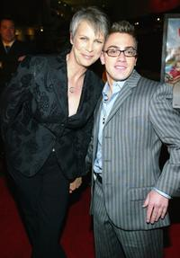 Jamie Lee Curtis and Eric Gores at the premiere of