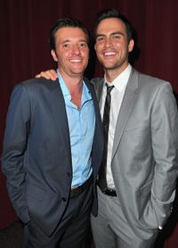 Jason Butler Harner and Cheyenne Jackson at the premiere of